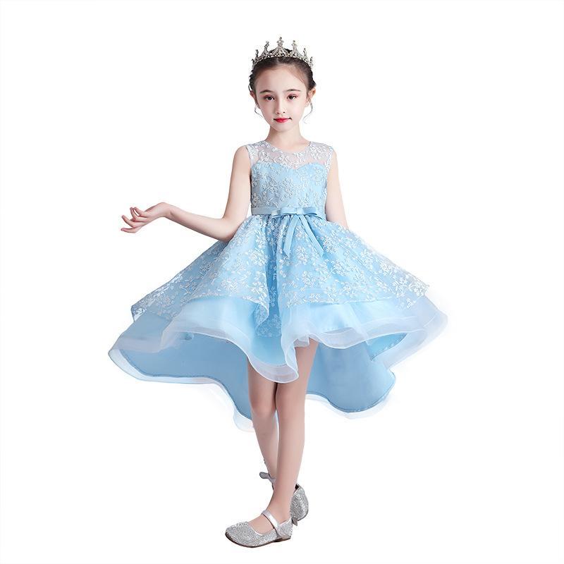 Neuer High-End-Qualität für Kinder Bankett Geburtstag zeigt Kleidrock geschwollene Prinzessin Rock 3-13 Jahre alt Hinter