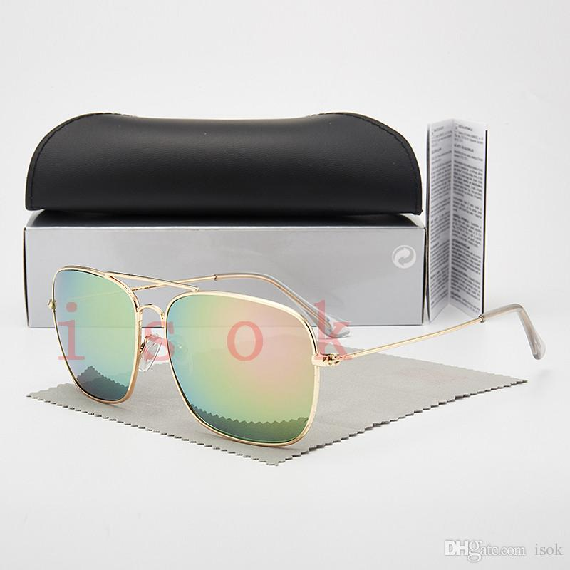 10pcs, designer en gros Lunettes de soleil des femmes des hommes Designer classique Marque Lunettes de soleil verres polarisés google lunettes avec des cas et la boîte