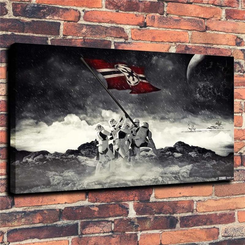 Stormtrooper Bayrak, HD Tuval Baskı Yeni Ev Dekorasyon Sanat Boyama / (Çerçevesiz / Çerçeveli)