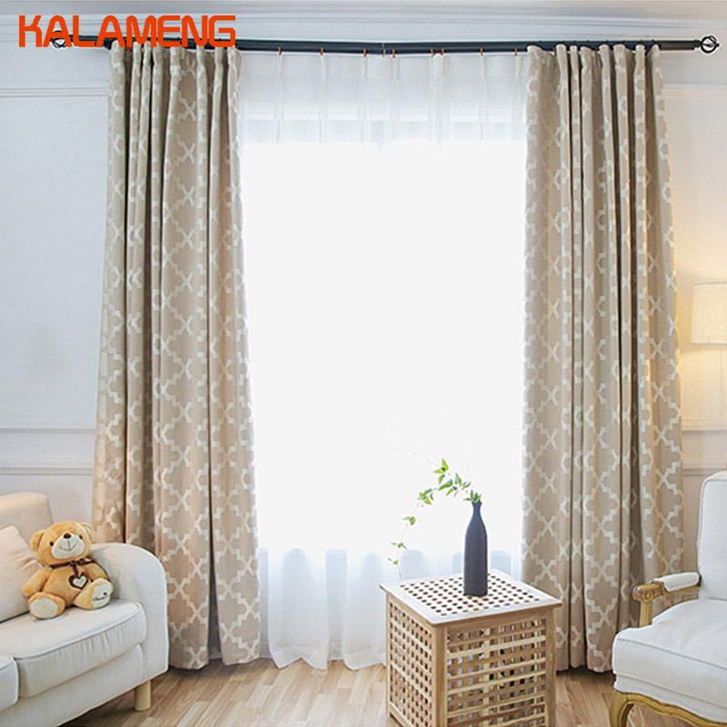 2019 Plaid Curtains Dining Room Curtain Yellow Geometric Window Drapes  Living Room Blackout Modern Bedroom Curtains Gray AXY8137 From Pont, $47.49  | ...