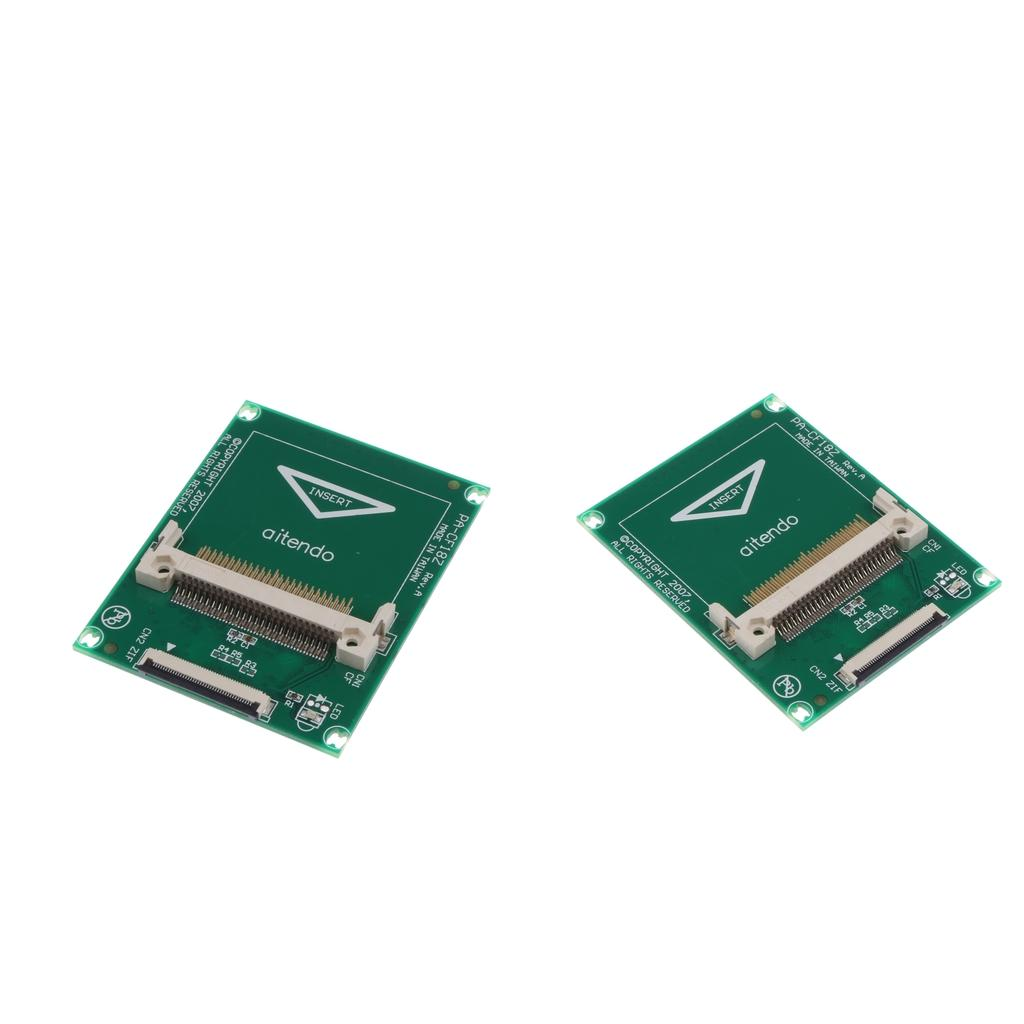 2x CF Card To 1.8inch CE Adapter Compact Flash Memory Disk To ZIF Converter