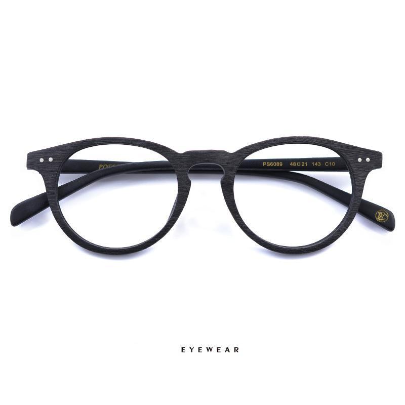 All'ingrosso di legno Vintage cornice rotonda retro vetri vetri decorativi montature da vista eyewears occhiali degli uomini le donne di moda