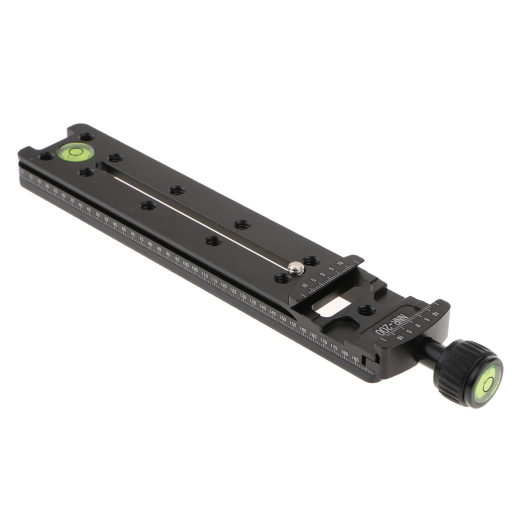 Camera Phone Lens,200mm Nodal Slide Rail Quick Release Plate Clamp Adapter Macro Panoramic for Arca