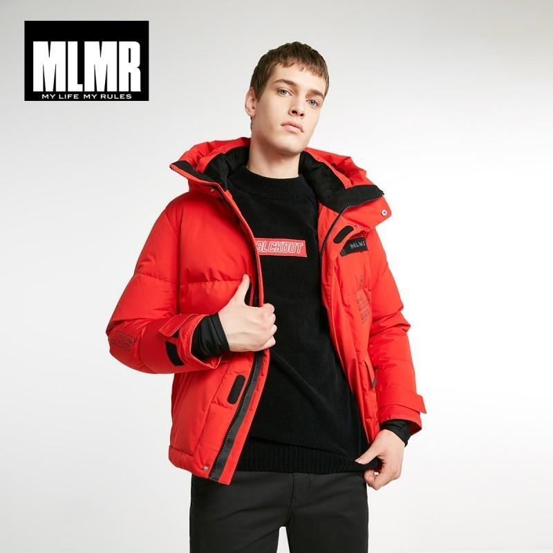 MLMR Мужская с капюшоном короткий пуховик Parka пальто JackJones Новый бренд мужской одежды 218412512 CJ191213