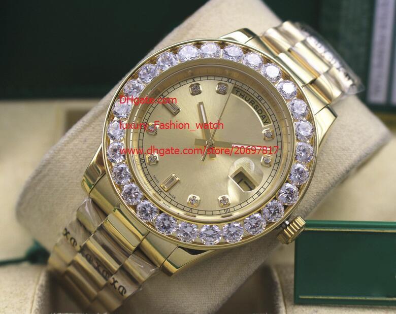 Luxe Haute Qualité Watch 116610 or jaune 41mm diamant DAY-DATE Série Classique Asie 2813 Mouvement mécanique automatique Hommes Montres Montres