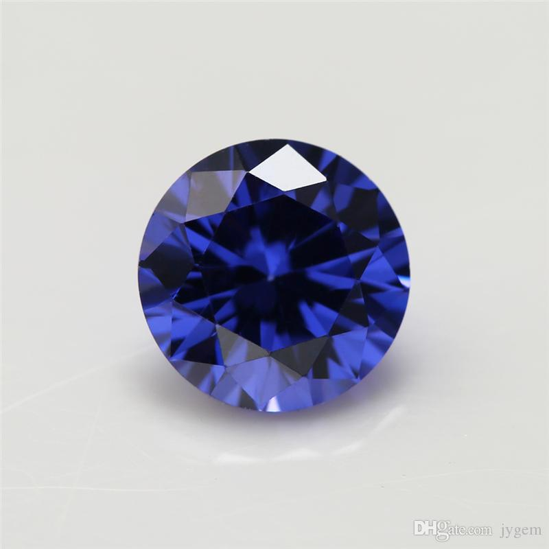 100pcs 5A Grade Tanzanite BLue Color 1.0~20mm Cubic Zirconia Stone Round Cut Loose CZ Stone Synthetic Gems