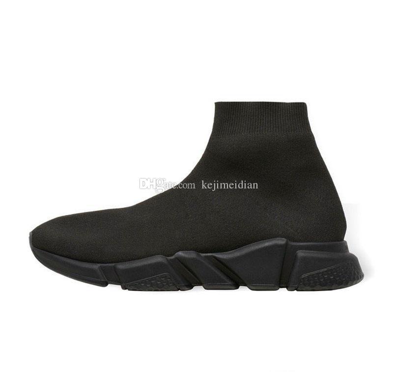 Designer Sneakers Speed Trainer Black