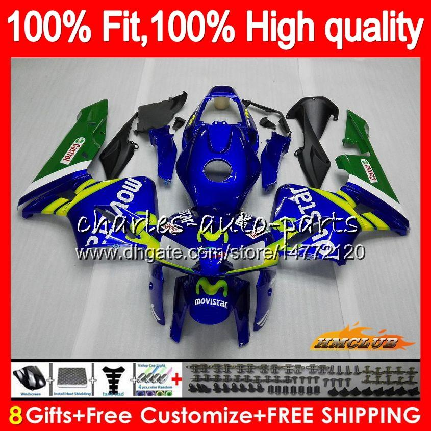 Injectievorm voor HONDA CBR600RR CBR600 RR 2005 2006 80HC.10 CBR600F5 CBR 600F5 600RR 05 06 CBR 600 RR F5 05 06 FUNLING OEM MOVISTAR BLUE