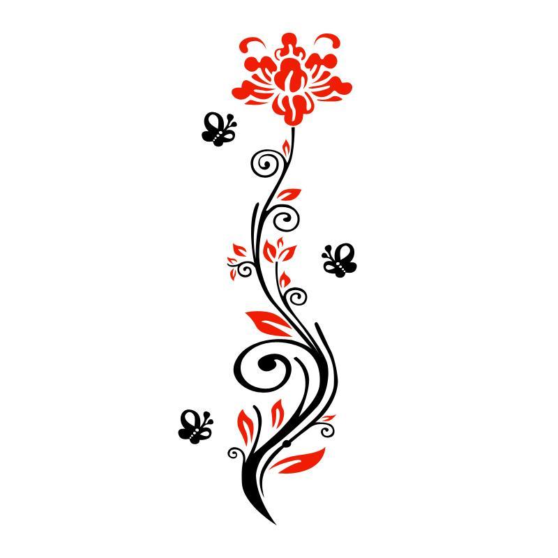 روز زهرة كرمة acryilc الجدار ملصق غرفة المعيشة 3d مرآة ملصقات الحائط مدخله خلفية diy الفن جدار ديكور