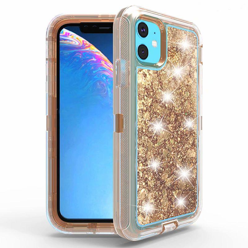 Glitter Transparent Liquid Bling Clear Quicksand Case para iPhone 11 Pro Máx XS MAX XR 6 7 8 PLUS SAMSUNG S10 S20 PLUS S20 ULTRA NOTA10 PRO