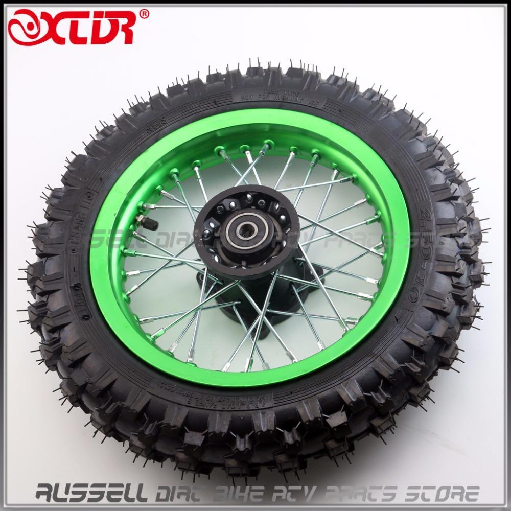 "Front Wheel Tire 10"" 2.50-10 & Rim For Tyre CRF50 CRF 50 Dirt Pit Trail Bike Buggy 50cc 70cc 90cc 110cc"