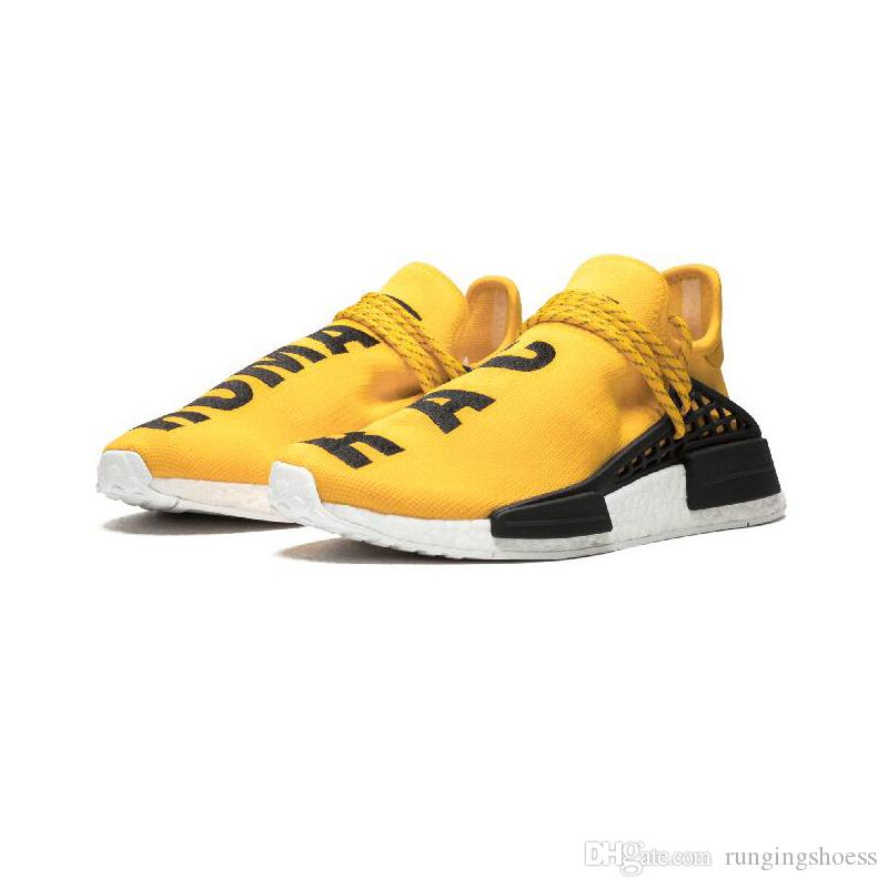 human race Hu trail x pharrell williams men running shoes Solar Pack Afro Holi Blank Canvas mens trainers women sports sneaker