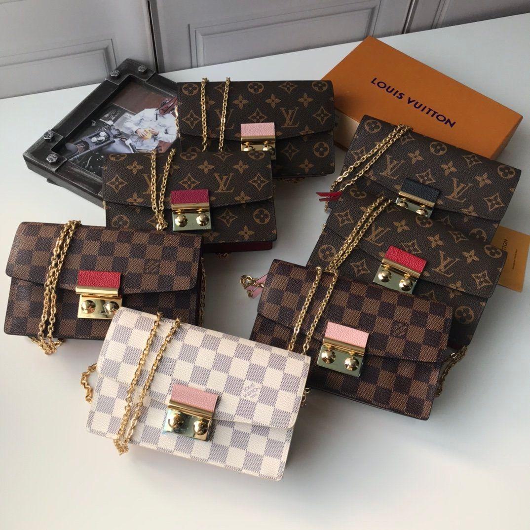 M62020 cartera de cuero bolsa de diseñador de las mujeres mujeres de la manera de lujo bolsas de alta calidad de señora titulares monedero de la cartera con la caja