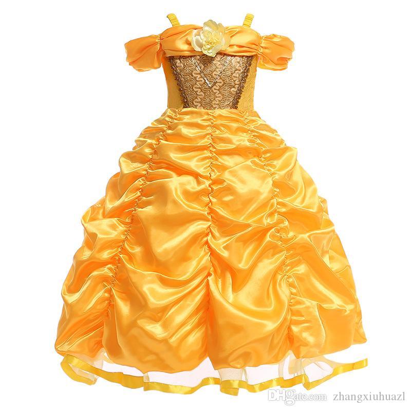 Compre Niñas Princesa Bebé Vestidos De Fiesta Para Niñas Vestido Elegante Boda Bola Vestidos De Verano Infant Todder Niños Vestido Para Niñas 3 4 5 6