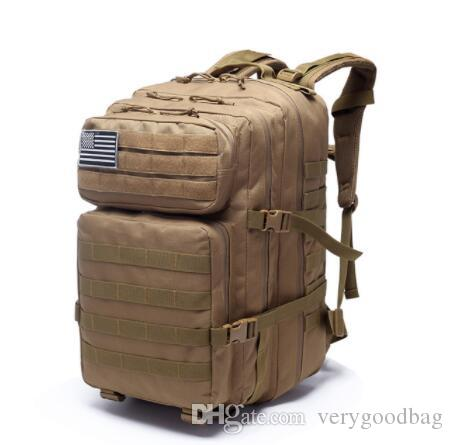 45L Большой Емкости Человек Армия Тактические Рюкзаки Военные Нападения Сумки Открытый 3 P EDC Молл Пакет Для Походов Отдых На Природе Охота Сумка