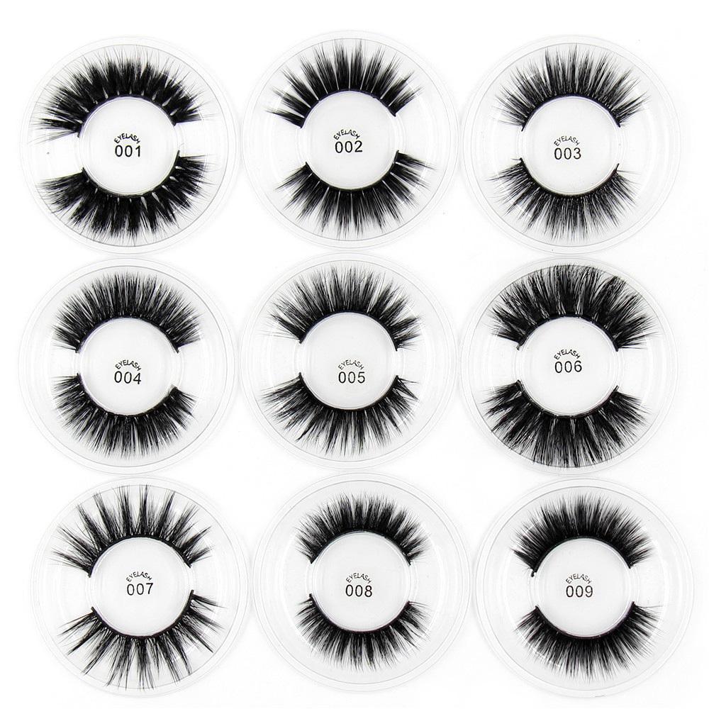 2019 pestañas de seda 3d pestañas 100% hecho a mano maquillaje de ojos gruesas pestañas falsas falsas arco iris embalaje 30 estilos
