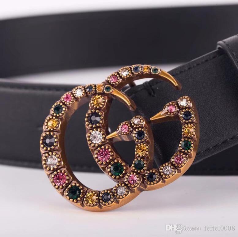 2020 Cinturón de los diseñadores para hombre Cinturones Cinturones Cinturón Los diseñadores de la serpiente de la correa de lujo para mujer Cinturones de cuero del negocio de Big hebilla de oro B11