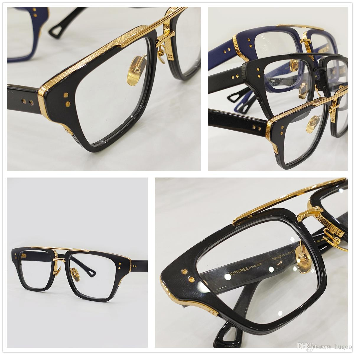 Mens Fashion Eye Transparent Glasses Clear Glass Eyeglasses Myopia Presbyopia Prescription Optical Spectacle Frames MACH 3