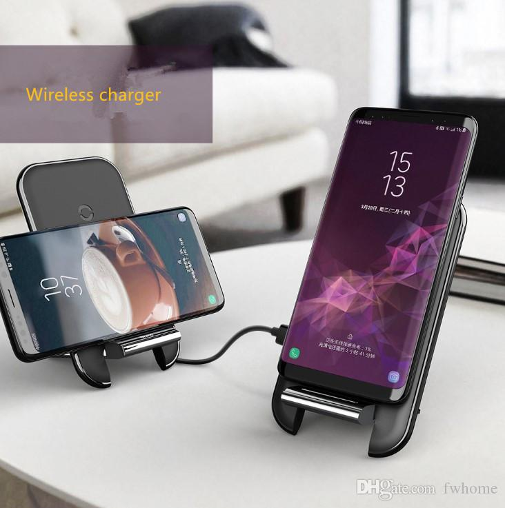 Wholesale 10W QI Wireless Charger Phone Holder Stand Fast Wireless Charging Pad Phone Chargers For Iphone XS X Huawer Mate 20 P30 Xiaomi 9