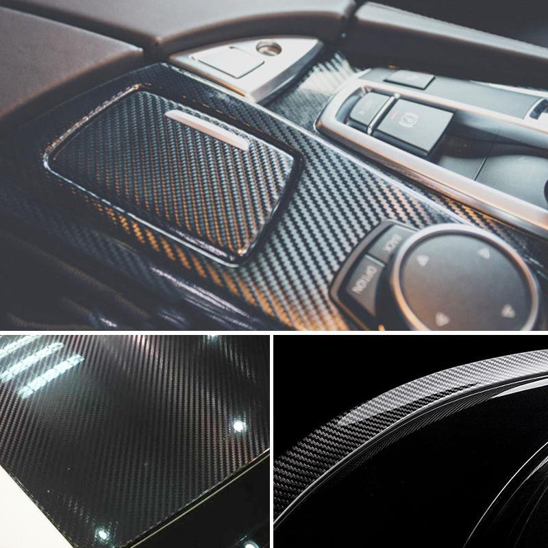 3D Película Carbono Adhesiva Carbono Para Auto Portátil Móvil Moto Nuevo