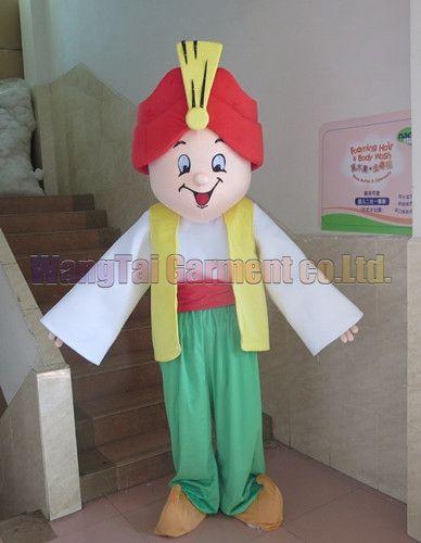 New Indian Mann Maskottchen Kostüm Erstklassig deluxe Zeichentrickfigur Kostüme indischer König Maskottchen Klage Abendkleid Partei Karneval freies Verschiffen