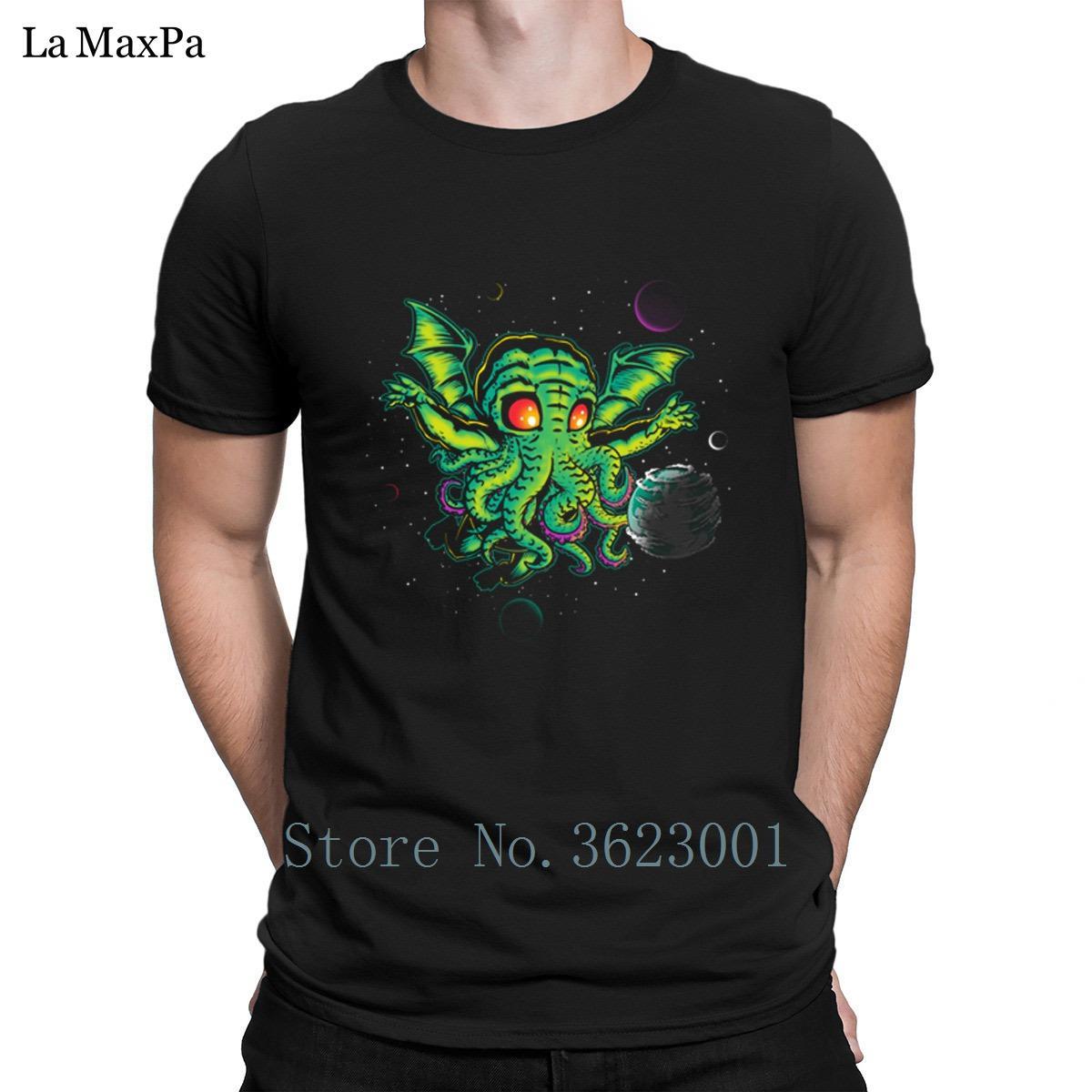 Divertido camiseta de encargo para los hombres Cthulhu: NEVERDIE camiseta para hombre Camiseta cómoda normal camiseta de los hombres tamaño euro Tee Tops