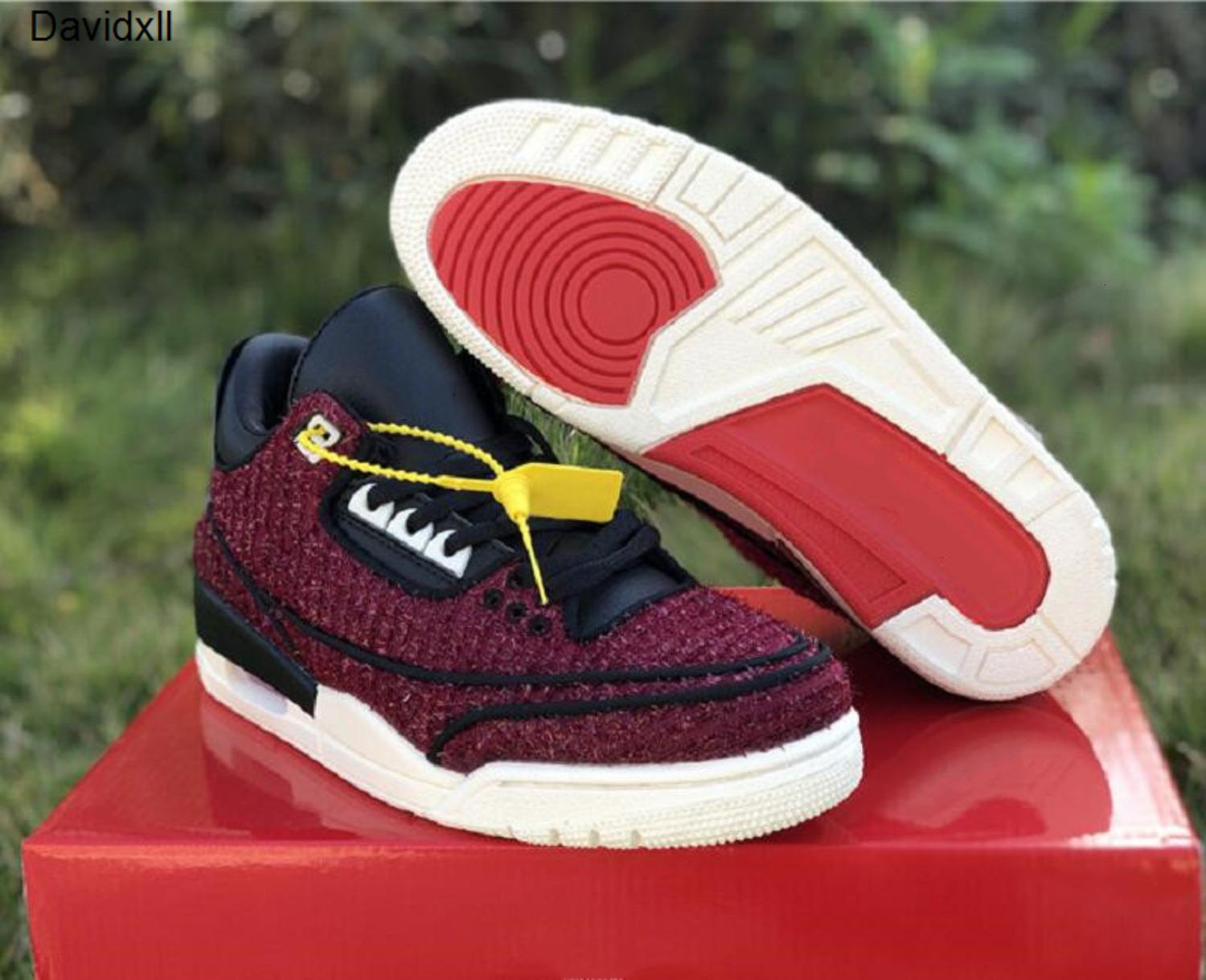 New Designer Knit 3 SE AWOK University Red Sail Black Mens Basketball Shoes Anna Wintour Vouge III Custom Sneakers With Box