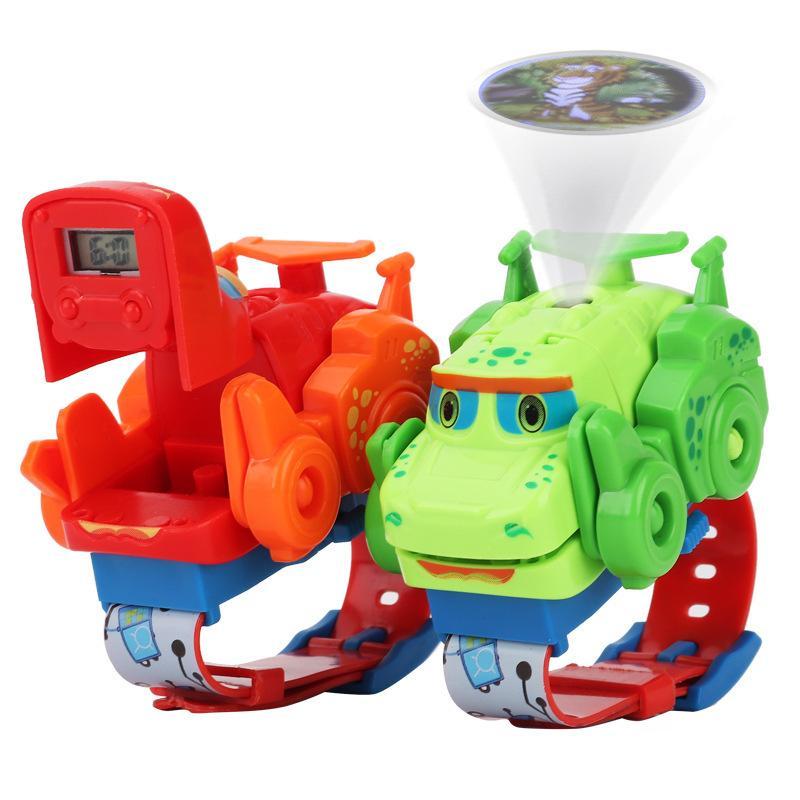 Yeni Dönüştürülebilir İzle Dinozor Oyuncak projectable Çocuk Çizgi Elektronik İzle
