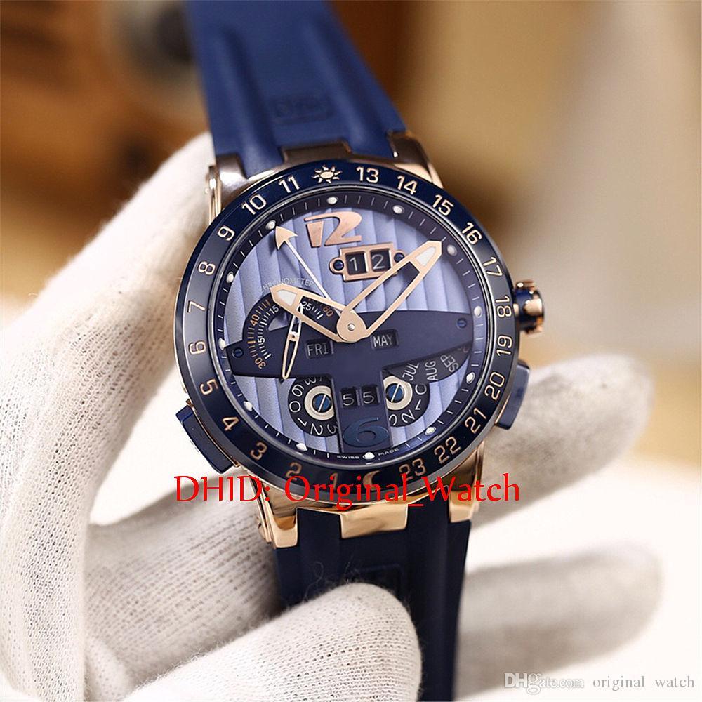 43mm Relojes para hombre Calendario perpetuo Caja de acero inoxidable 316L Cerámica Bisel Zafiro Correa de caucho 32 Relojes mecánicos automáticos casuales