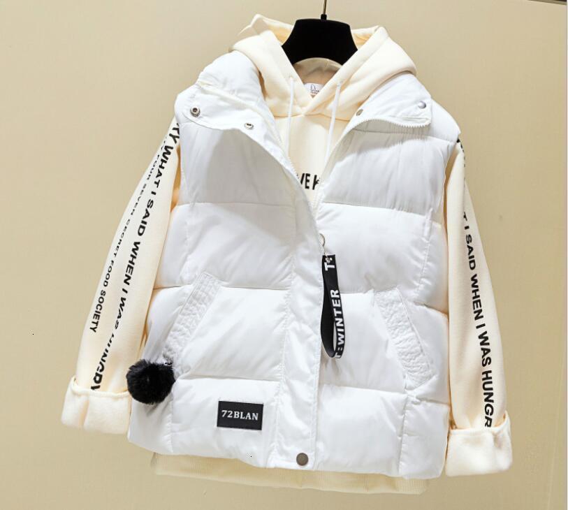 NEW2019 otoño e invierno simples damas de la chaqueta del chaleco de color sólido chaleco femenino Veste Femme abrigos esquimales Chalecos Para Mujer Casaco Femini