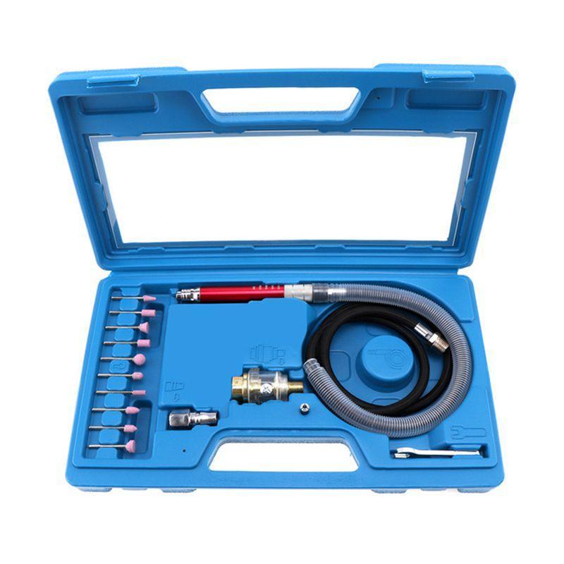 16pcs Hochgeschwindigkeits-Luft-Mini Die Grinder Kits Mini Bleistift Polier Gravieren Werkzeugschleifen Schneiden Druckluftwerkzeuge