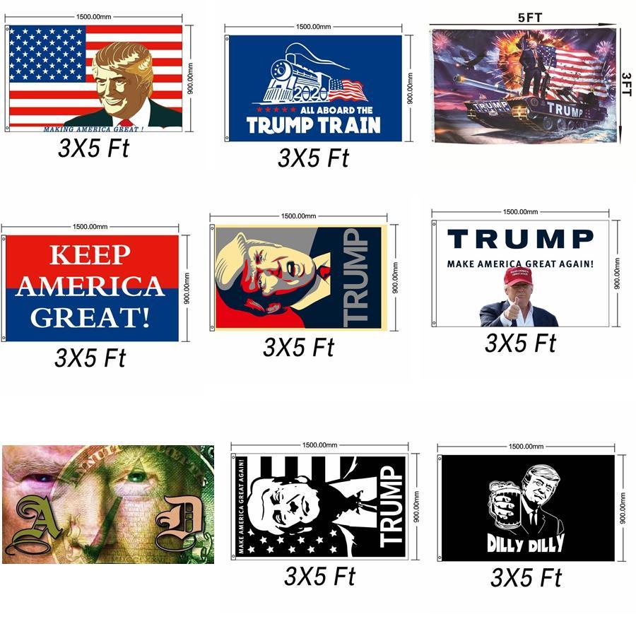 ترامب 2020 العلم دونالد ترامب تانك أعلام أعلام amercia شخصية decortive راية العلم الانتخابات راية احتفالية إمدادات حزب GGA2321