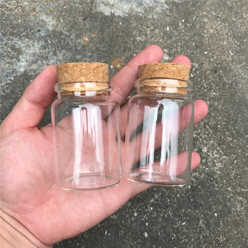 80ml frascos de vidro com cortiça pequeno Transparente Mini vazio frascos de vidro frascos Container claro Comida botlles Eco-Friendly 12pcs / lot SH190925