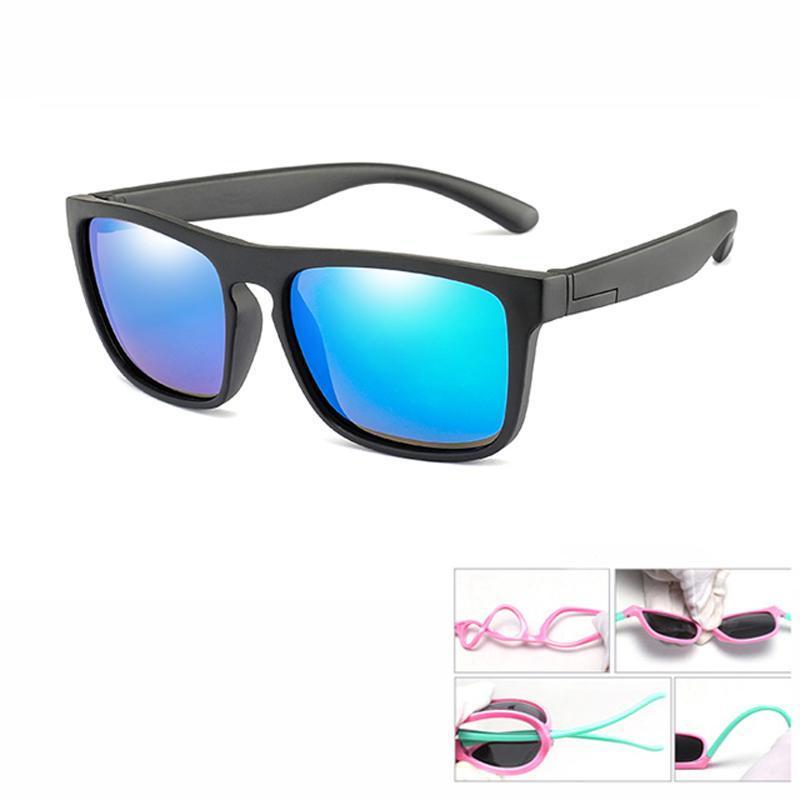 Gafas de sol polarizadas Niños Niñas Niños Niños Gafas de sol Pc protección UV de las lentes Gafas de alta calidad de la manera Colorframe rTnSq