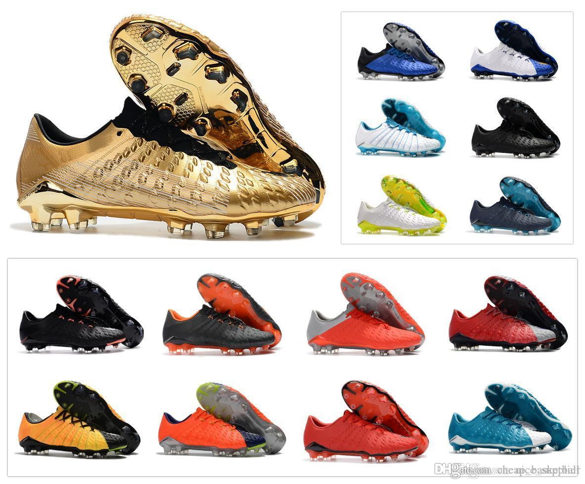 Hot sale Hypervenom Phantom III DF FG 3 Secret Action Soccer shoes Cleats Mens Low ankle Authentic Football Boots Size US 6.5-11