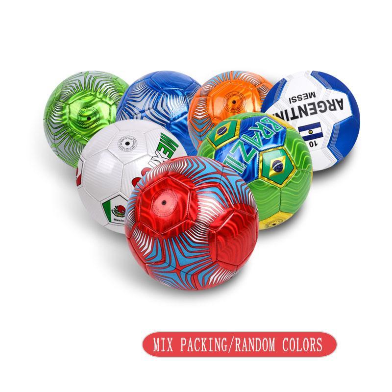 2pcs / set di cucito a macchina dimensioni di calcio 5 bambini pallone da calcio sfera in pvc