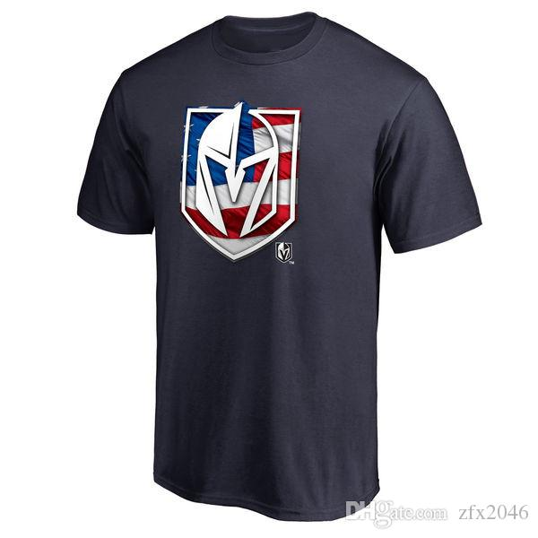 # 29 Marc-Andre Vegas Golden Knights Fanatics Branded Banner Wave Hockey T-Shirt Primär-Logo im Freien Kurzarm Uniform Shirts Logos