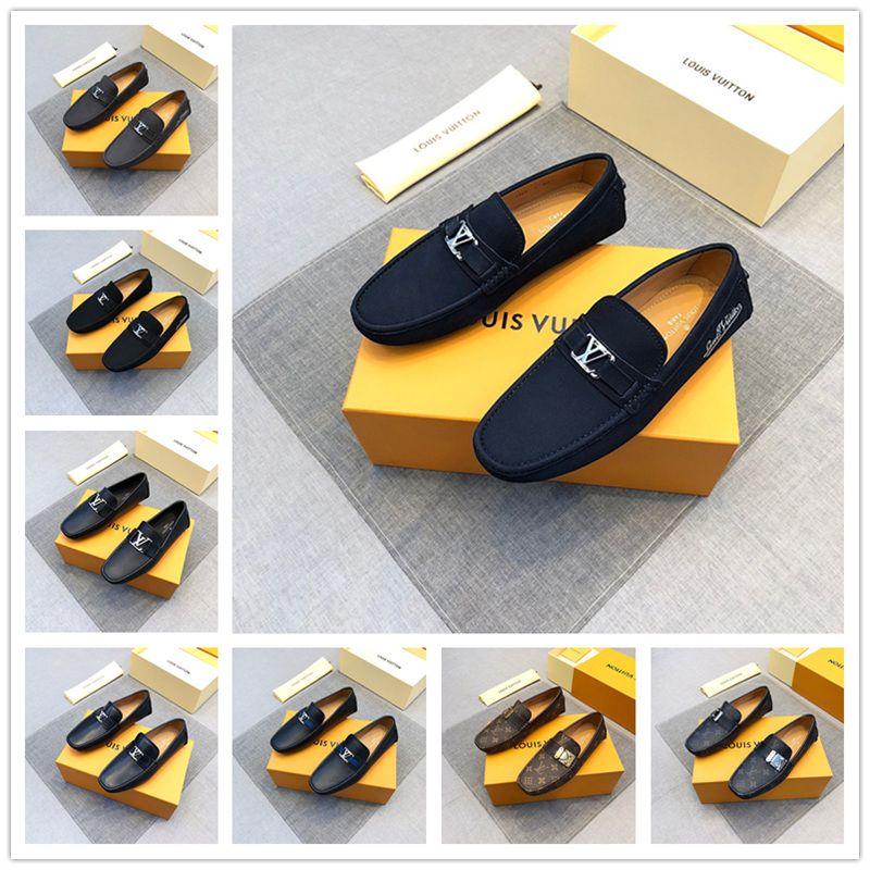 Marca de alta calidad mocasines para hombre de cuero genuino mocasines hombres resbalones en los zapatos de conducción Mocasines masculinos Gommino zapatos del barco