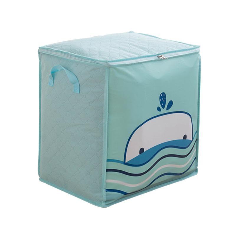 Foldable Storage Bag Quilt Pillow Blanket Organizer Home Closet Storage Bag Clothes Quilt Blanket Zipper Home Organizer Box