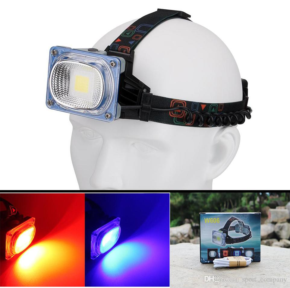 20W Waterproof LED Headlamp Headlight Safety Warning Red Light Work Light USB Rechargeable Camping Searchlight Head Lamp Torch for Repairing