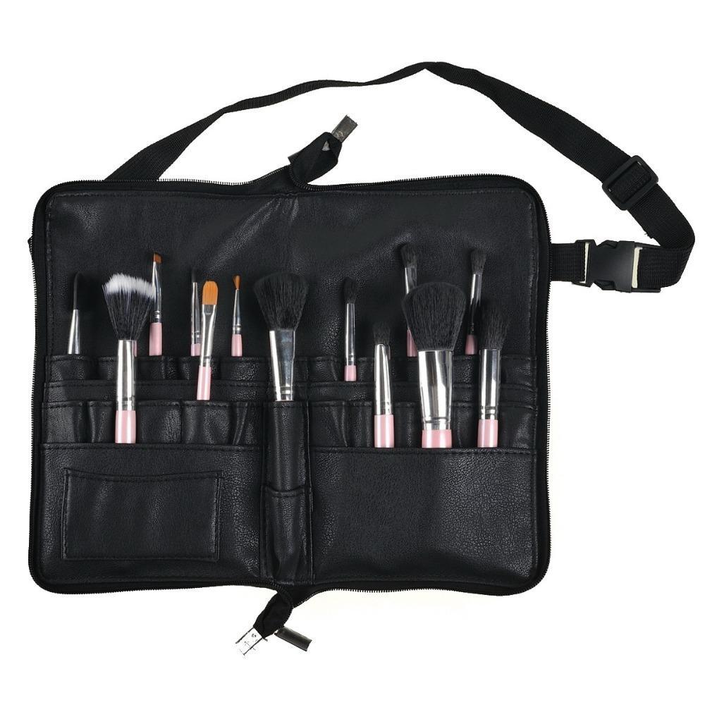 Professional Cosmetic Makeup Brush PVC Apron Bag Artist Belt Strap Protable Make Up Bag Holder (Brushes Not Included) CY200516
