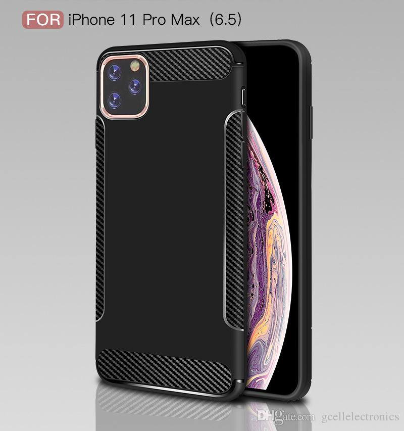 For Samsung Galaxy S20 Plus A51 Iphone 11 Pro Redmi Note 8 K20 Carbon Fiber Design TPU Cell Phone Cases Slim Back Cover