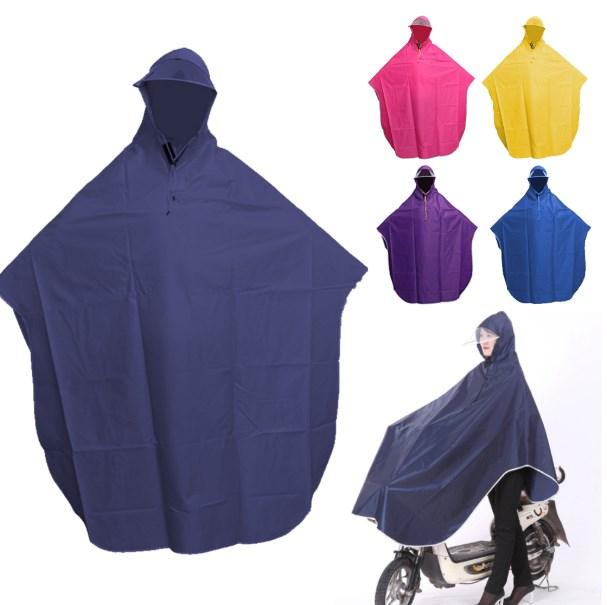 Cycling Motorcycle Raincoat Mens Womens Rain Coat Poncho Hooded Windproof Rain Cape Mobility Scooter Bicycle Cover