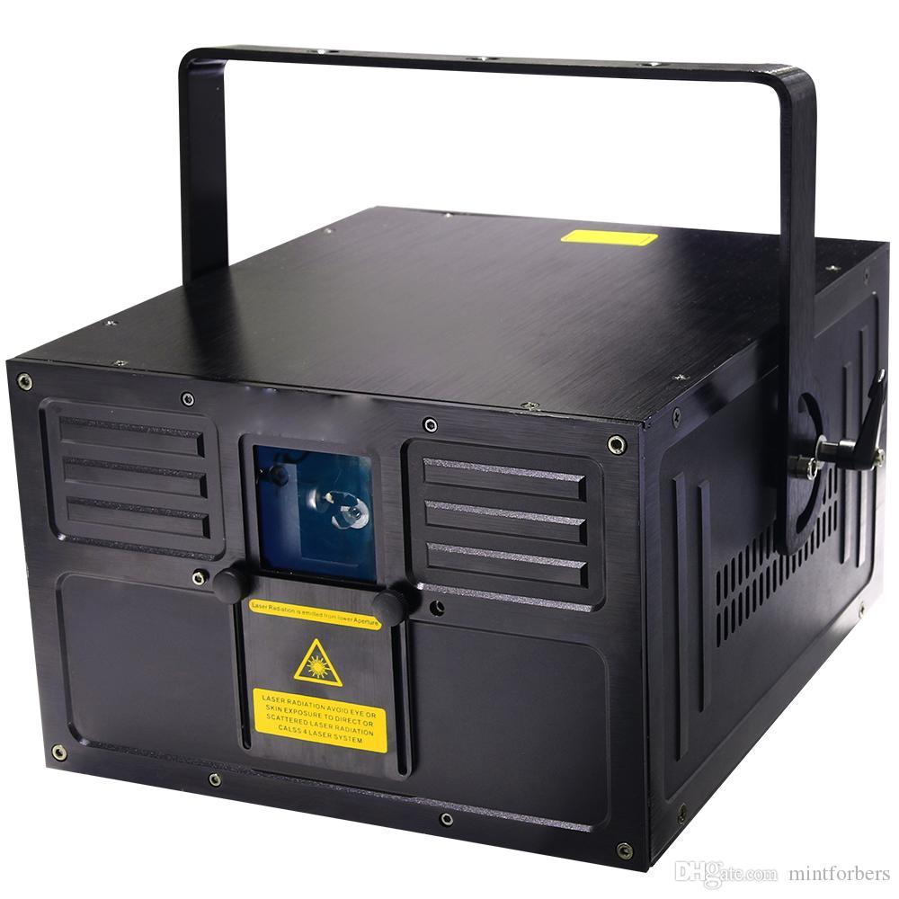 5W RGB Animación a todo color Luz láser Analizador analógico ILDA 30K Auto sonido DMX ILDA 256 patrones Anlog