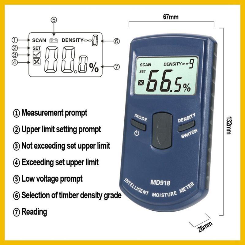 Inductive Wood Timber Moisture Meter Hygrometer Digital Tester Measuring tool