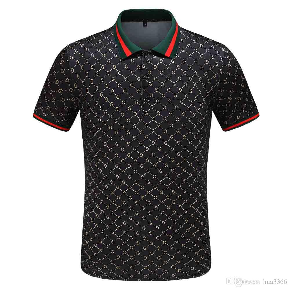 2020 New Medusa Polo High street Italie Designer polo des hommes de mode avec broderie Casual Polos Appliqué Polos Black Men