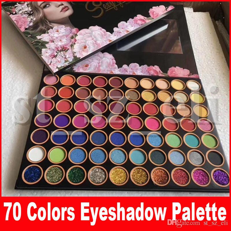 New Eye Makeup Eyeshadow Palette Shimmer Glitter Matte 4D Sexy Goddess 70 Colors Preseed Pigment Eye Shadow Palette