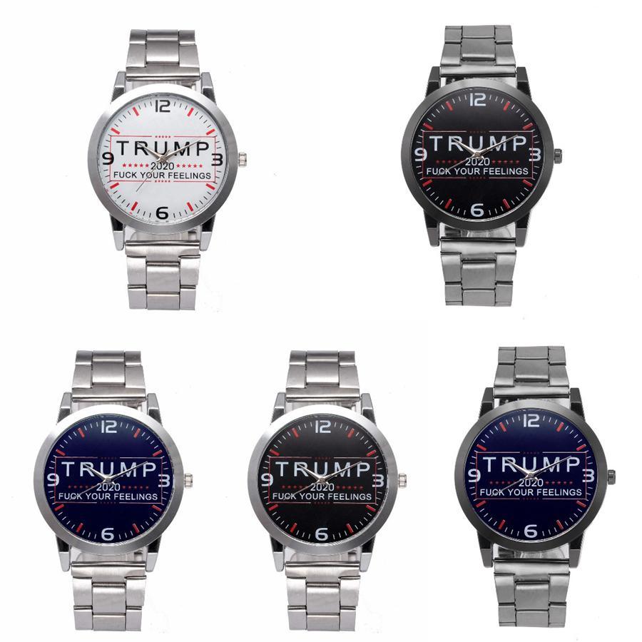 Trump Bilek Saatler 5 Stilleri Trump 2020 Kayış İzle Retro Mektup Baskılı Erkekler Boys Quartz Saatler OOA7553-14