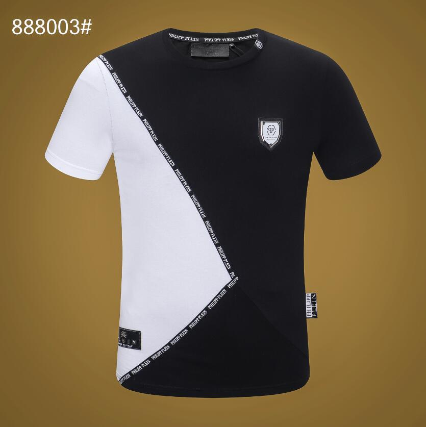 2020 der Herbst-Männer-T-Shirt Mode für Männer Kurzarm-T-Shirt, Kleidung, Lässige Schädel Buchstabedruck Hip Hop Male Tops T # 1836