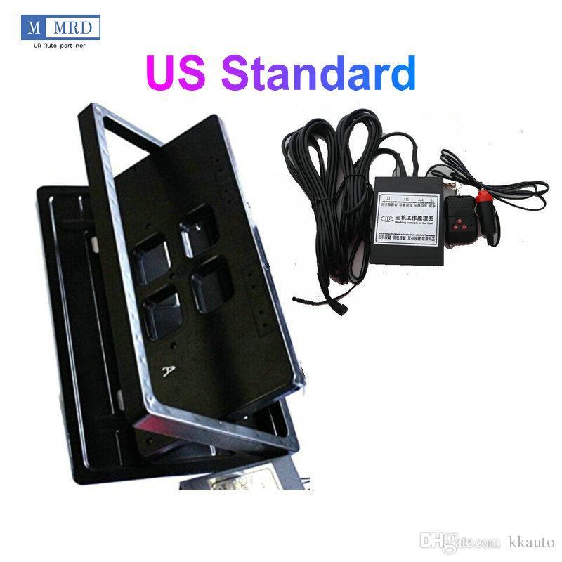 1 Plate/ Set USA Style Remote Control Retractable Hide Hidden Flip License Plate Flipper Stealth Brand New via DHL/Fedex/UPS